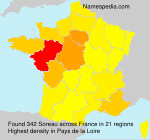 Surname Soreau in France