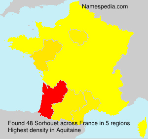 Surname Sorhouet in France