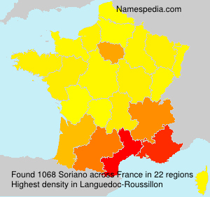 Surname Soriano in France
