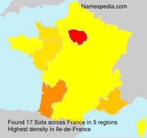 Familiennamen Sota - France