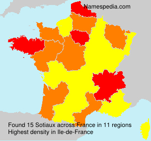 Surname Sotiaux in France