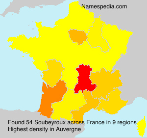 Surname Soubeyroux in France