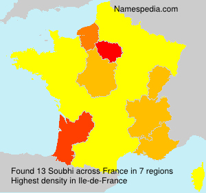 Surname Soubhi in France