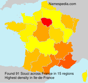 Surname Souci in France