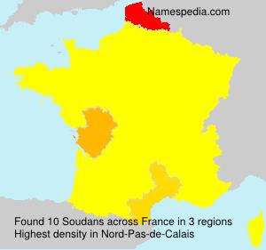 Surname Soudans in France