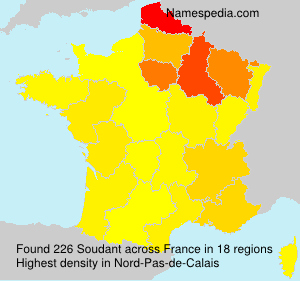 Surname Soudant in France