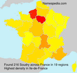 Surname Soudry in France