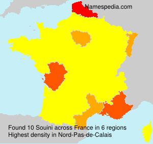 Familiennamen Souini - France