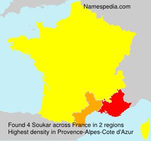 Surname Soukar in France