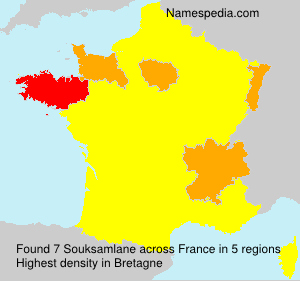 Surname Souksamlane in France