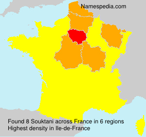 Familiennamen Souktani - France