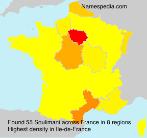 Surname Soulimani in France