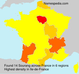 Surname Sourang in France