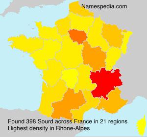 Surname Sourd in France