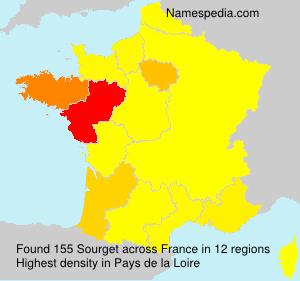 Familiennamen Sourget - France
