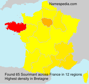 Surname Sourimant in France