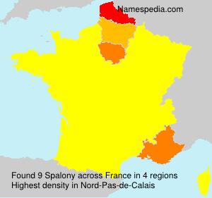 Surname Spalony in France