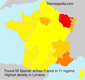 Surname Spanier in France
