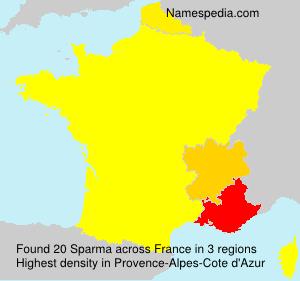 Surname Sparma in France