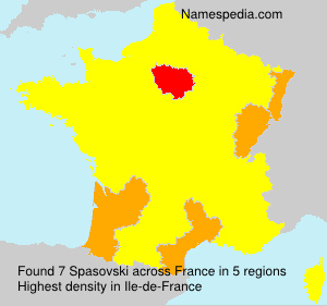 Surname Spasovski in France