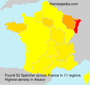 Surname Speicher in France