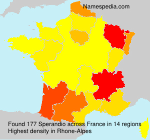 Surname Sperandio in France