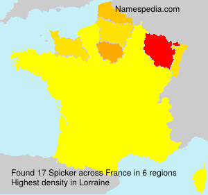Surname Spicker in France