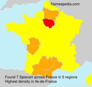 Surname Spiecart in France