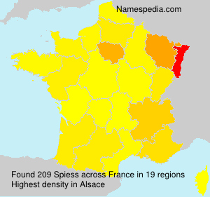 Surname Spiess in France