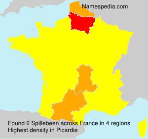 Surname Spillebeen in France