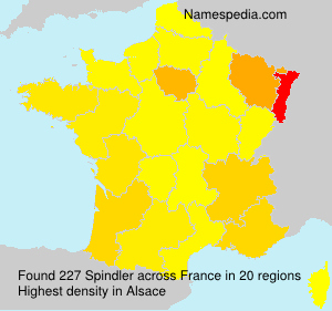 Surname Spindler in France