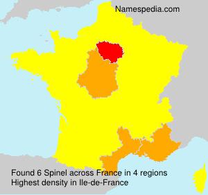 Surname Spinel in France
