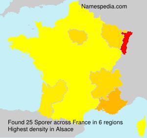 Surname Sporer in France