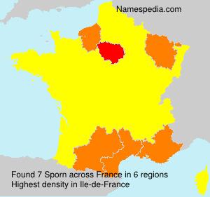 Surname Sporn in France