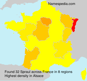 Surname Spraul in France