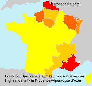 Surname Spyckerelle in France