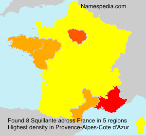 Surname Squillante in France