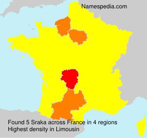 Surname Sraka in France