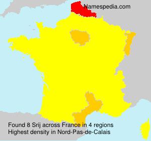 Familiennamen Srij - France