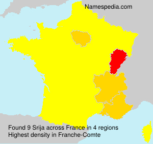 Surname Srija in France