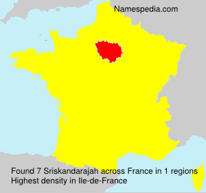 Surname Sriskandarajah in France