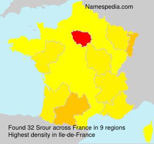 Familiennamen Srour - France