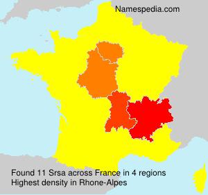 Surname Srsa in France