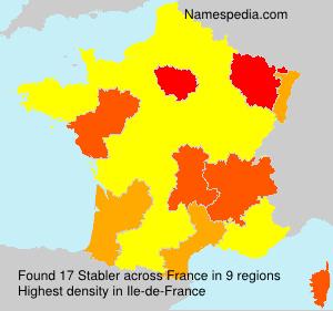 Surname Stabler in France