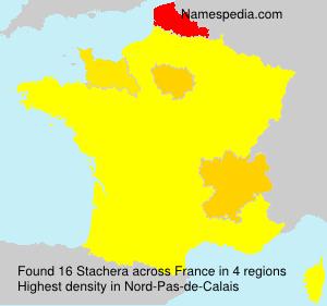 Familiennamen Stachera - France