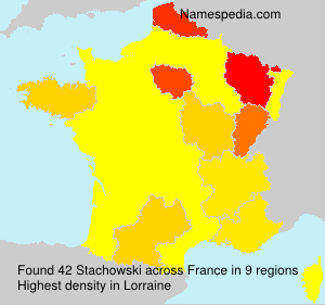 Surname Stachowski in France