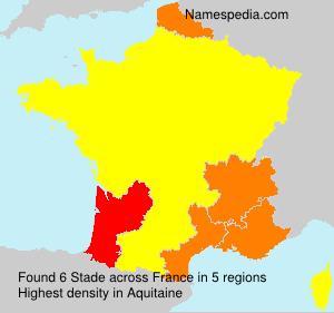 Surname Stade in France