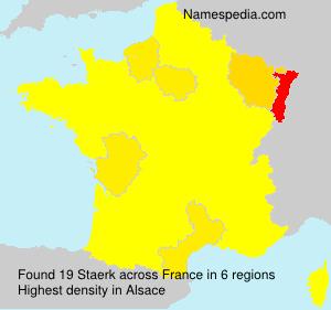 Surname Staerk in France