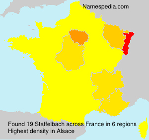 Surname Staffelbach in France