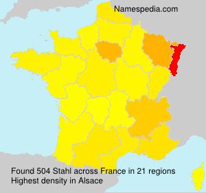 Surname Stahl in France